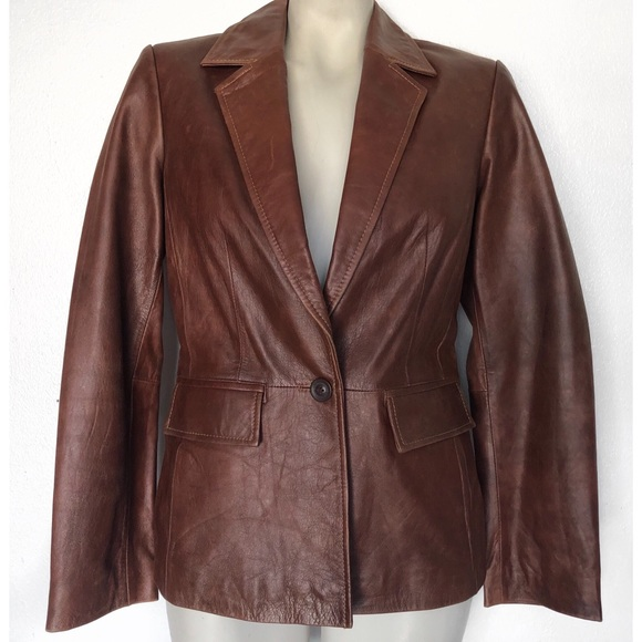 INC International Concepts Jackets & Blazers - I.N.C INTERNATIONAL CONCEPTS LEATHER JACKET BLAZER